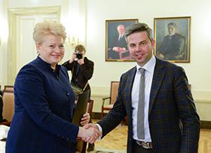 Die Präsidentin der Republik Litauen drückt ihre Dankbarkeit aus