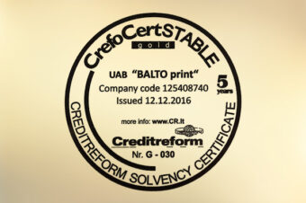 CrefoCert STABILUS GOLD sertifikatas