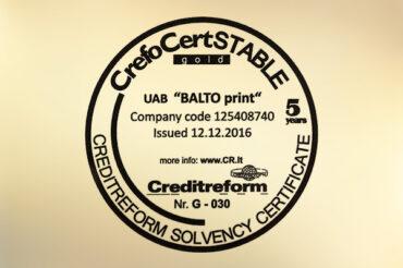 CrefoCert STABILUS GOLD certificate