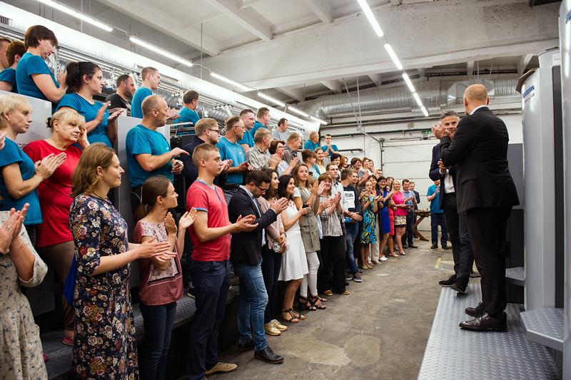 Dar vienos naujos spaudos mašinos startas BALTO print gamyboje